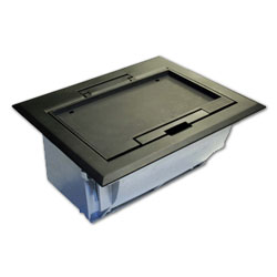 Hubbell 4-Gang Deep Raised Access Floor Box and Plastic Cover Assembly