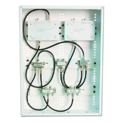 Channel Vision 3 In, 8 Out RF Distribution Panel