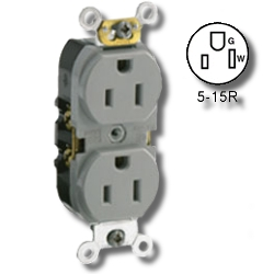 Leviton Smooth face Side wired 15A 125V Duplex Receptacle
