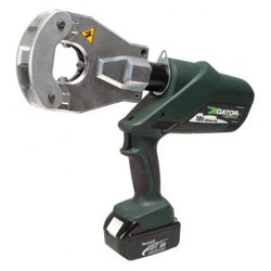 Greenlee Quad-Point L Series Battery Powered Crimping Tool with Flip-Top Head