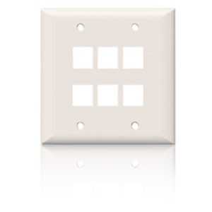 Suttle SpeedStar 6 Port Double Gang Smooth Faceplate White