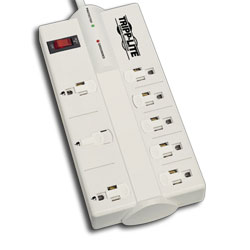 Tripp Lite 8 AC Outlet Surge, Spike, and Line Noise Suppressor with Transformer Outlets