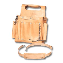 Ideal Tuff-Tote Tool Pouch with Shoulder Strap, Standard Leather Model