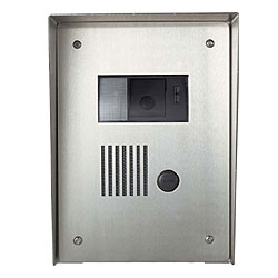 Aiphone Flush Mount Stainless Steel Housing for Color Video Door Stations