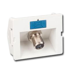 Siemon Angled Coax CT Coupler with1 F-Type Adapter