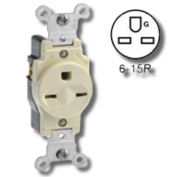 Leviton 15Amp 250V Grounding Single Receptacle