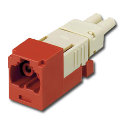 Panduit® Mini-Com FJ Opti-Crimp X-Keyed Duplex Jack Red Module 62.5/125um