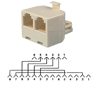 Allen Tel Auxiliary Power T Adapter
