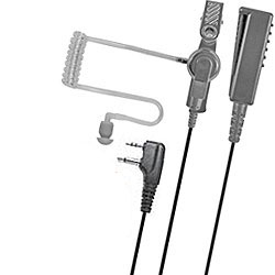 Pryme Medium Duty Lapel Microphone for Two-Wire Surveillance Kit for Midland Radios