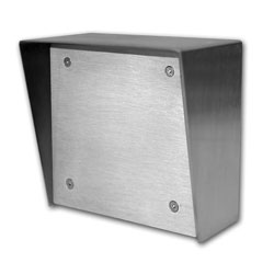 Viking Stainless Steel Surface Box 5x5 with Blank Aluminum Panel