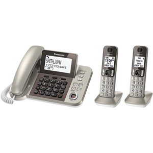 Panasonic Corded Cordless Phone and Answering Machine with (2) Cordless Handsets