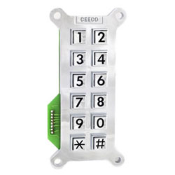 Ceeco Vertical Large Number Bright Chrome Key Pad