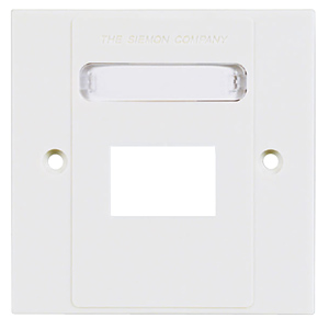 Siemon Single Gang MAX British Faceplate for 3 MAX Modules