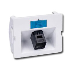 Siemon Angled Fiber Adapter CT Coupler with 1 Duplex MT-RJ Adapter (2 Fibers)