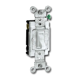 Leviton Double-Pole, Framed Toggle Side Wired Quiet Switch