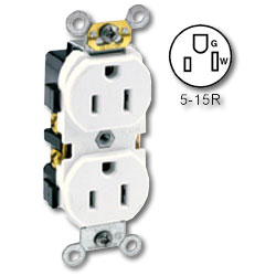 Leviton Side Wired 15A/125v Duplex Receptacle