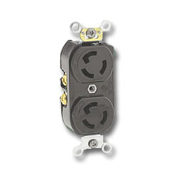 Leviton 15Amp Locking Device with 250V 2-Pole 3-Wire Grounding