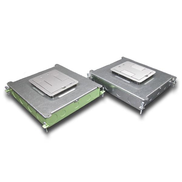 Legrand - Wiremold Six-Compartment Single- or Multi-Service Recessed Floor Box