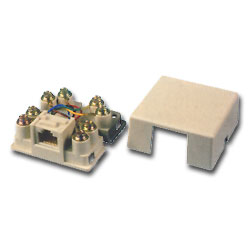 Allen Tel RJ48X Modular Surface Mount Wall Jack