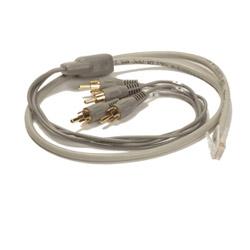 Legrand - On-Q Cat 5 Camera Mic Cable (RJ45 To Quad RCA Audio)
