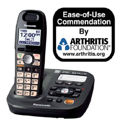 Panasonic DECT 6.0 Plus Expandable Digital Cordless Answering System with One Handset