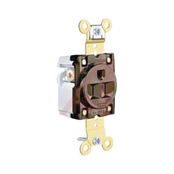 Hubbell 15A/125V Extra Heavy Duty, Weather Resistant Straight Blade Single Receptacle