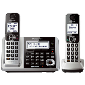 Panasonic Link2Cell Bluetooth® Cordless Phone and Answering Machine with 2 Handsets