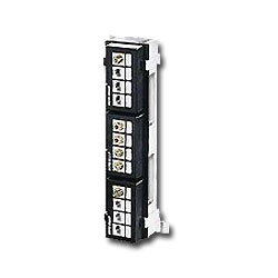 Leviton QuickPort 12-Port Multimedia Patch Block with Mounting Bracket