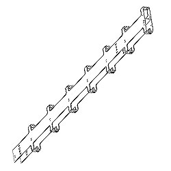Chatsworth Products Double-Sided Narrow Vertical Cabling Section