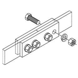 Chatsworth Products Auxiliary Framing Bar Splice Kit, Cable Runway