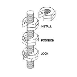 Chatsworth Products Slip-On Lock Nut