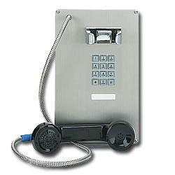 Ceeco Stainless Steel Panel Phone with Chrome Keypad
