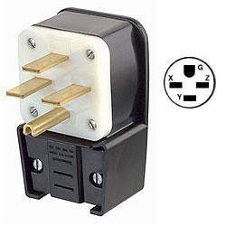 Leviton 250V Flush Mount Receptacle Matching Angle Plug