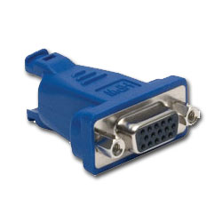 Hubbell VGA Plug-n-Play, 15-Pin Female to 8-Pin Female AV Connector - Straight 180 Degrees