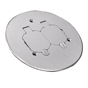 Legrand - Wiremold Brass or Brushed Aluminum Duplex Cover Plate
