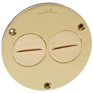 Hubbell Round Floor Box Flush Cover - 1-1/2