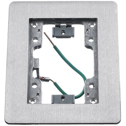 Hubbell Rectangular Flat Flange, 1-Gang, Aluminum