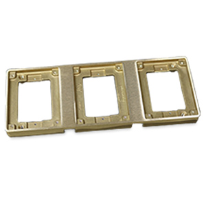 Legrand - Wiremold Three Gang Brass Tile Flange