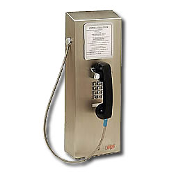 Ceeco Stainless Steel Charge-A-Call Wall Phone