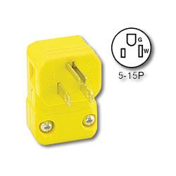 Leviton 15Amp 125V Industrial Grade NEMA 5-15 Angle Plug