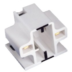Leviton 10mm Compact Screw Down Fluorescent Lampholder for GX23 and GX23-2 Lamp Base