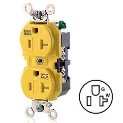 Leviton Duplex Receptacle 20 Amp, 125 Volt, NEMA 5-20R