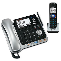 AT&T 2-Line Corded/Cordless Answering System with Dial-in-Base Speakerphone