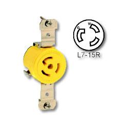 Leviton 15 AMP 277V Single Locking Flush Receptacle