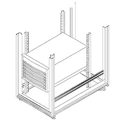 Chatsworth Products Vertical Mounting Rails for HP Servers, Half Height HP Rail Kit