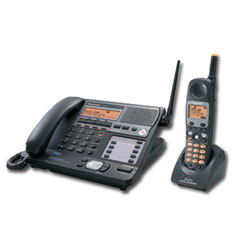 Panasonic 4-Line 5.8GHz FHSS Corded Base and Cordless Handset