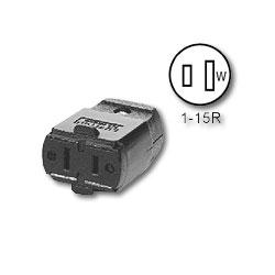 Leviton 5 Amp,125 Volt, NEMA 1-15R Polarized Connector (RoHS Compliant)