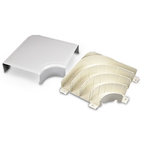 Legrand - Wiremold 5400 Series Nonmetallic Raceway™ Fittings - Bend Radius Full Capacity Flat Elbow