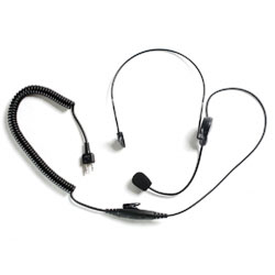 Impact Radio Accessories Platinum Series Behind the Head Single Muff Headset with Noise Cancelling Microphone