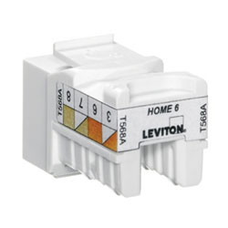 Leviton HOME Category 6 QuickPort Snap-in Connector